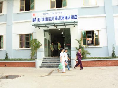 nhà lưu trú bệnh viện bạch mai