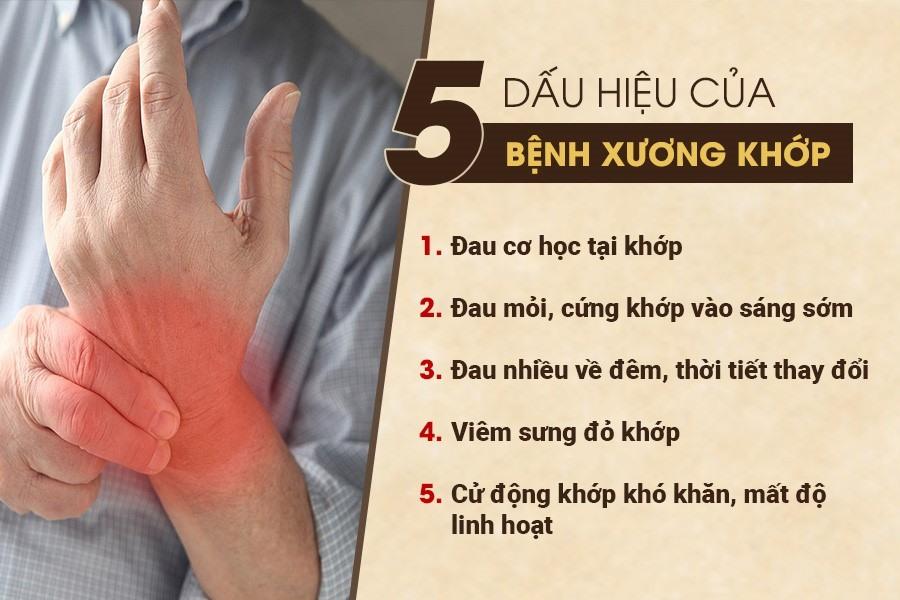 dấu hiệu đau nhức xương khớp
