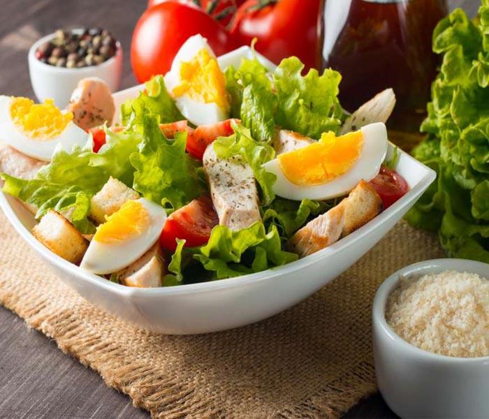 salad trứng đà điểu