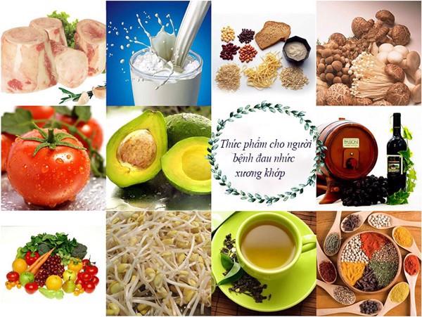 thực phẩm cho người bệnh xương khớp