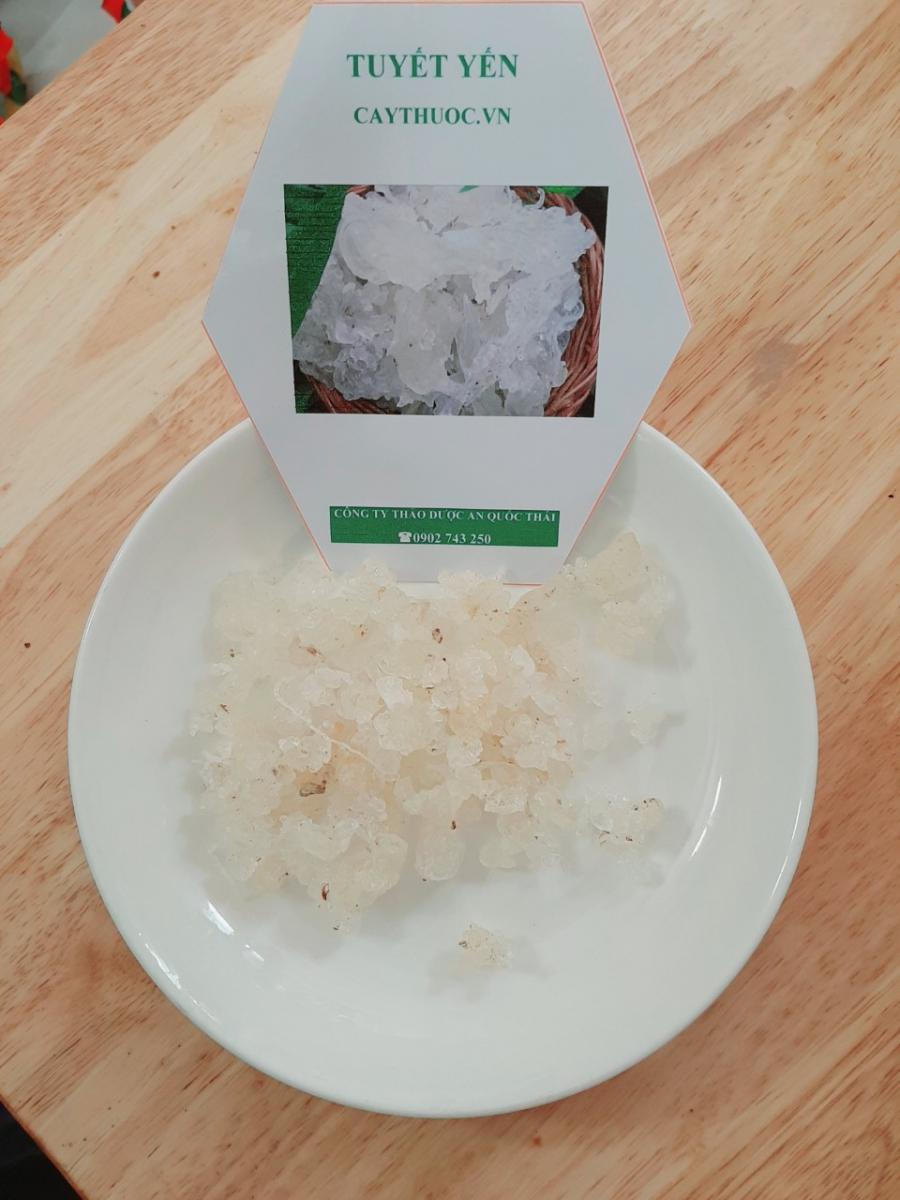 cách phân biệt tuyết yến và mủ trôm 1